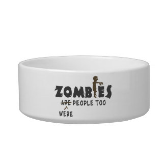 Zombies Were People Too Cat Water Bowl
