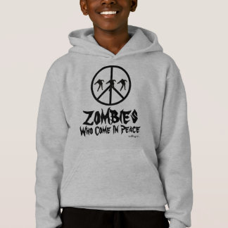 Zombies Who Come In Peace Kid's Hoodie