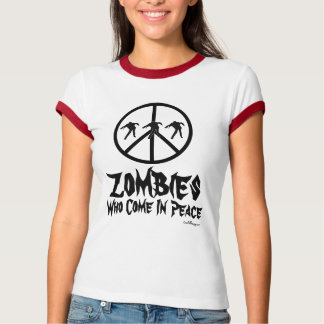 Zombies Who Come In Peace Ringer T-Shirt