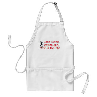 Zombies Will Eat Me Adult Apron