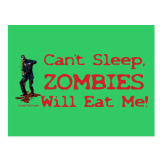 Zombies Will Eat Me Postcard