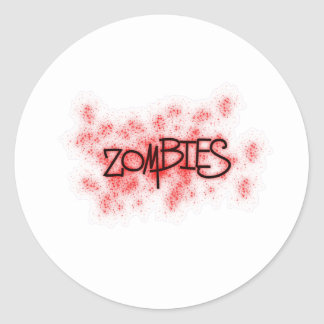 Zombies with 100% more splatter! classic round sticker