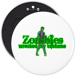 Zombies Wrecked My Costume - Halloween Pin