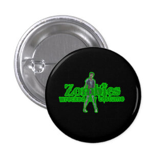 Zombies Wrecked My Costume - Halloween Buttons