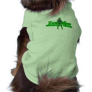 Zombies Wrecked My Costume - Halloween Dog Tshirt
