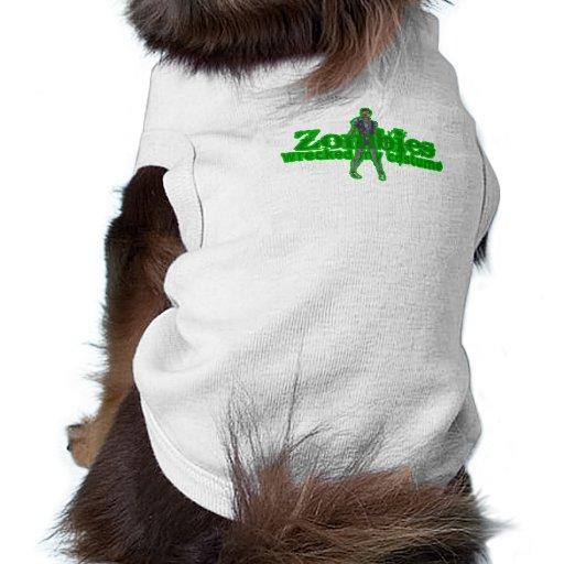 Zombies Wrecked My Costume - Halloween Doggie Shirt