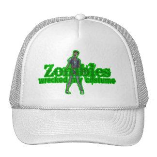 Zombies Wrecked My Costume - Halloween Mesh Hat