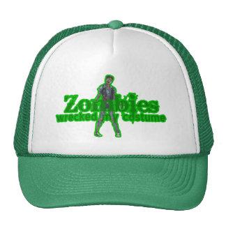 Zombies Wrecked My Costume - Halloween Trucker Hats