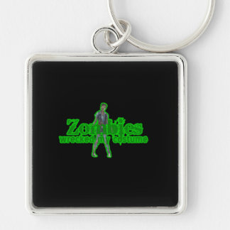 Zombies Wrecked My Costume - Halloween Keychains