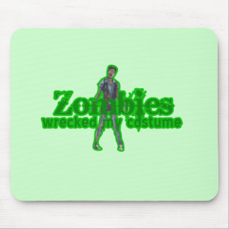 Zombies Wrecked My Costume - Halloween Mouse Pad