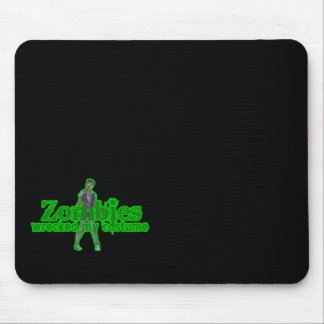 Zombies Wrecked My Costume - Halloween Mousepads