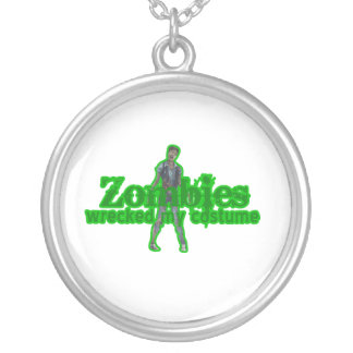 Zombies Wrecked My Costume - Halloween Necklace