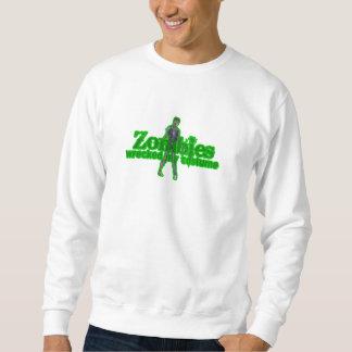 Zombies Wrecked My Costume - Halloween Pull Over Sweatshirts