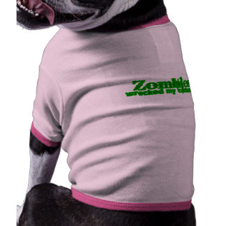 Zombies Wrecked My Costume Text Halloween Dog Clothes