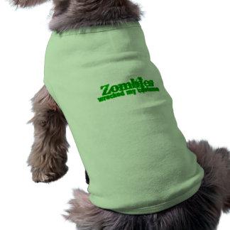 Zombies Wrecked My Costume Text Halloween Pet Shirt