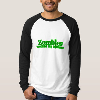 Zombies Wrecked My Costume Text Halloween Shirt