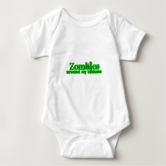 Zombies Wrecked My Costume Text Halloween T-shirt