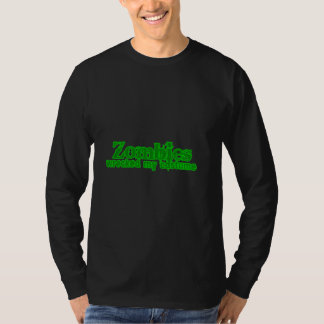 Zombies Wrecked My Costume Text Halloween T Shirt