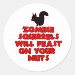 ZombieSquirrelpng Etiqueta Redonda