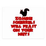 ZombieSquirrelpng Tarjeta Postal