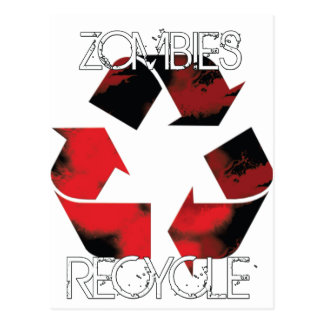 ZombiesRecycle Tarjeta Postal