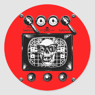 Zombievision Round Stickers