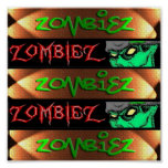 ZOMBIEZ BANNERS 1 AND 2 PRINT