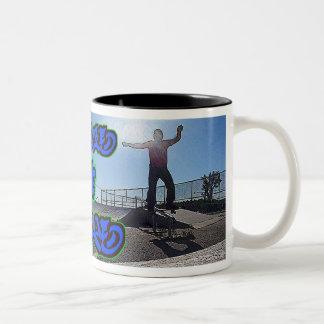 ZombieZ  BOARDSLIDE SKATE 4 LIFE  TALL COFFEE MUG. Two-Tone Coffee Mug