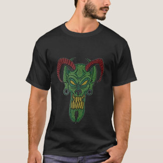 ZombieZ DEMON HEAD mens basic t-shirt