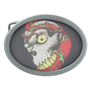 ZombieZ skull n vine BELT BUCKEL Oval Belt Buckle
