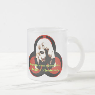 Zombilene of The Living Dead Frosted Glass Coffee Mug