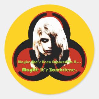 Zombilene of The Living Dead Classic Round Sticker