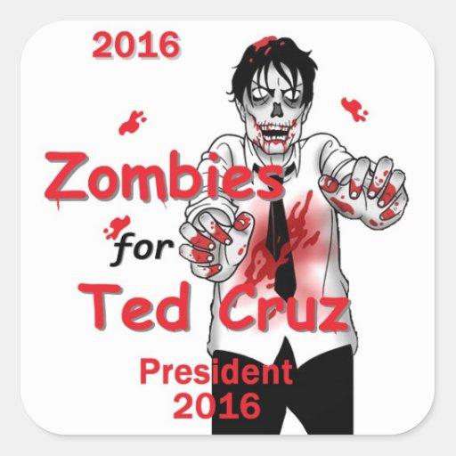 Zombis 2016 de Cruz Pegatinas Cuadradases
