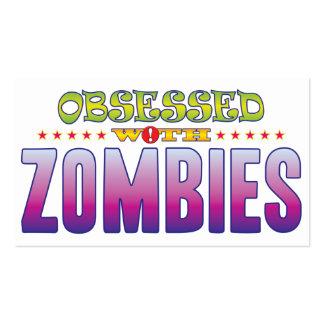 Zombis 2 obsesionados tarjetas de visita