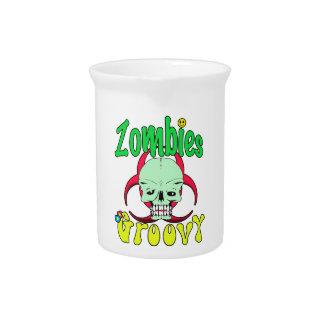 Zombis 70s maravilloso 1 jarrones