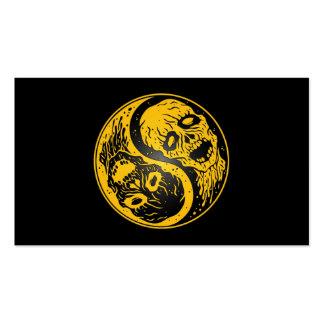 Zombis amarillo y negro de Yin Yang Tarjeta De Visita