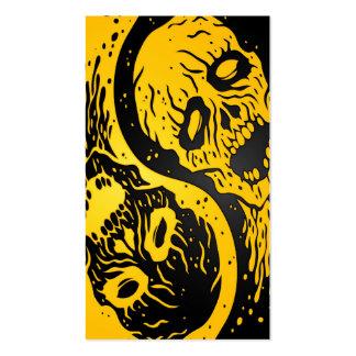Zombis amarillos y negros de Yin Yang Tarjetas De Negocios