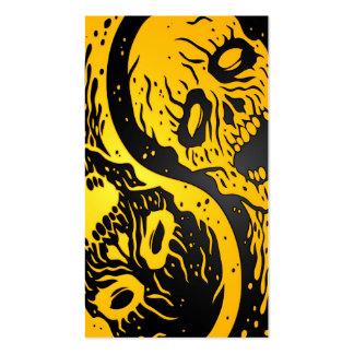 Zombis amarillos y negros de Yin Yang Tarjetas De Visita