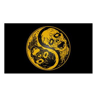 Zombis amarillos y negros de Yin Yang Tarjeta De Negocio