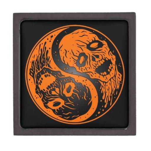 Zombis anaranjados y negros de Yin Yang Caja De Regalo De Calidad