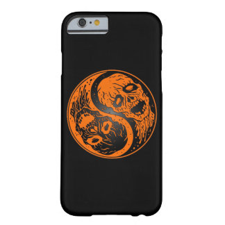 Zombis anaranjados y negros de Yin Yang Funda De iPhone 6 Barely There