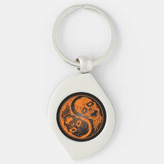 Zombis anaranjados y negros de Yin Yang Llaveros