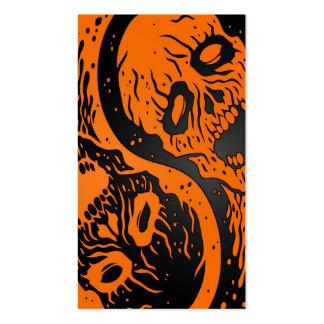 Zombis anaranjados y negros de Yin Yang Tarjetas De Negocios