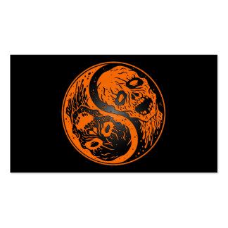 Zombis anaranjados y negros de Yin Yang Tarjeta De Negocio