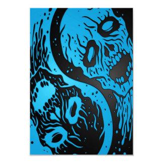 Zombis azules y negros de Yin Yang Comunicados Personalizados