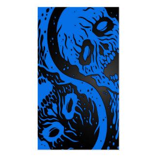 Zombis azules y negros de Yin Yang Tarjetas De Visita