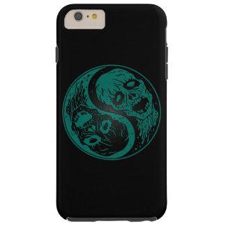 Zombis azules y negros del trullo de Yin Yang Funda De iPhone 6 Plus Tough