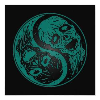 Zombis azules y negros del trullo de Yin Yang Comunicados Personalizados