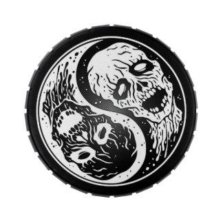 Zombis blancos y negros de Yin Yang Frascos De Caramelos
