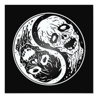 Zombis blancos y negros de Yin Yang Anuncios Personalizados